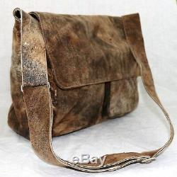 $1700 JAMAH distressed leather cross body CARTER messenger shoulder handbag USA