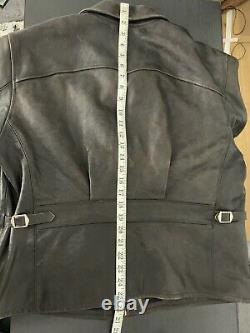 $1800 RRL Ralph Lauren Large Morrow Distressed Brown Leather Jacket