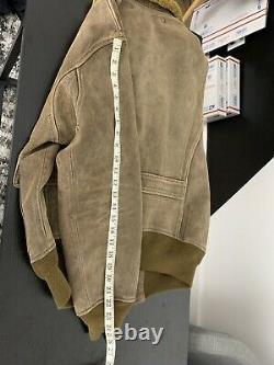 $2400 RRL Ralph Lauren Large Bomber Jacket Leather Aviator Shearling Polo Rugby