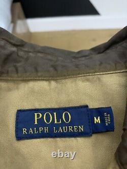 $328 Polo Ralph Lauren Medium Wax Brown Shirt FO Leather RRL Distressed Western