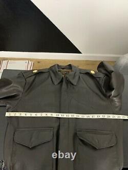 $680 Cockpit USA 40 Dark Brown Leather Jacket A-2 Aviator Bomber Military Army