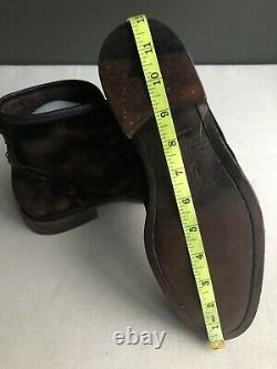 698$ John Varvatos Brown Distressed Velvet Fleetwood Boots Size 9.5B 349$