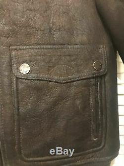 990$ Timberland size M MEN'S MOUNT MAJOR SHEARLING BOMBER JACKET brown cocao