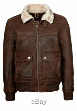 990$ Timberland size S MEN'S MOUNT MAJOR SHEARLING BOMBER JACKET brown cocao