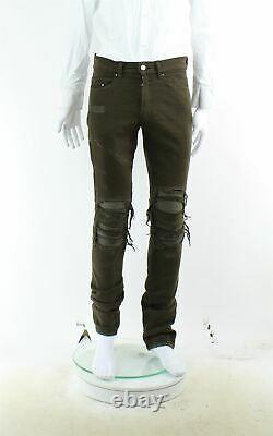 AMIRI Brown Distressed Skinny Jeans, UK 30 US 30 EU XXS