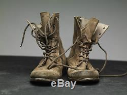 All Saints Military Boots us8 Eu41 Distressed Tan Leather Suede Montgomery rf6