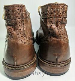 Allen Edmonds Cronmok Size 11 D Distressed Brown Tan Unlined Leather Boot