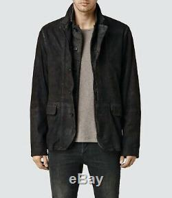 Allsaints Sanuki Distressed Leather Blazer XS Extra Small £358