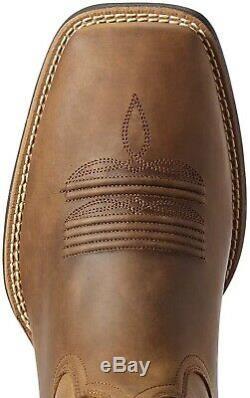 Ariat 244081 Mens Sport Patriot II Western Boots Distressed Tan Size 10.5 D