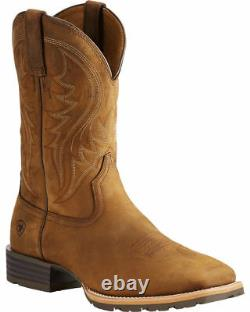Ariat Men's Distressed Brown Hybrid Rancher Cowboy Boots Square Toe 10023175