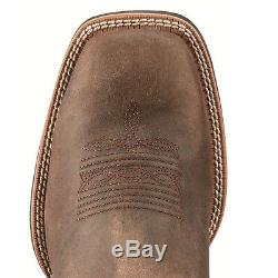 Ariat Men's Sport Wide Square Toe Boots Distressed Brown 10010963