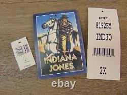 Authentic INDIANA JONES 2005 Disneyland Distressed LEATHER JACKET XXL Monogram