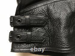 BELSTAFF Mens Alwyn Black Leather Moto Jacket Large US 40, IT50 $1900