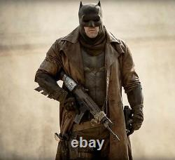 Batman Dawn of Justice Knightmare Brown Distressed Leather Trench Coat All Sizes