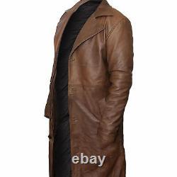 Batman v Superman Dawn of Justice Nightmare Distressed Brown Leather Coat Jacket