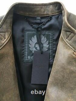 Belstaff Mens'Farleigh' Distressed Leather Moto Jacket Large US 40/IT50 $2800