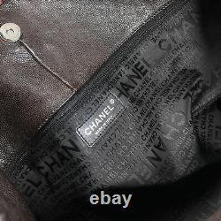 Chanel Chocolate Coco Cabas Distressed Caviar Hobo XL Bag