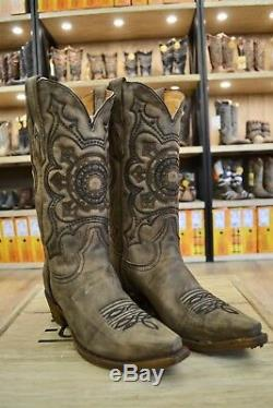 Corral Men's Distressed Brown Leather Pointed Toe Cowboy Boots A3305