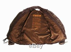 Custom The Great China Wall Distressed Cafe Racer Leather Jacket