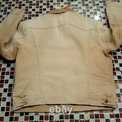 DISTRESSED VTG 80's Carhartt Blanket Lined Trucker Jacket Coat 44 LARGE USA