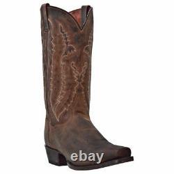 Dan Post DP2163 Men Earp Bay Apache Distressed Leather Square Toe Western Boot