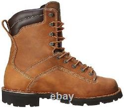 Danner Mens Quarry Leather Composite toe Lace Up, Distressed Brown, Size 11.5 Z6