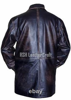Dean Winchester Supernatural Distressed Brown Real Cowhide Leather Jacket Coat