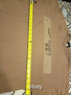 Deftones Brown Tee White Pony Vintage 2000s XL by Giant Merch DISTRESSED Ohms