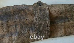 Distressed Brown Lamb Leather Field Jacket Size 40S