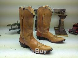 Distressed Brown Vintage Rios Of Mercedes Leather Engineer Western Boots 11.5 A