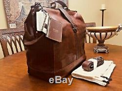 Distressed Buffalo Leather Doctor bag / Briefcase / Weekender US Made