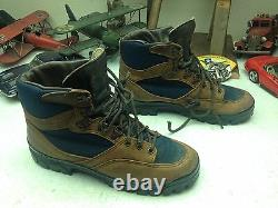 Distressed Danner Made In USA Vintage Brown Leather Lace Up Hiking Boots 11d