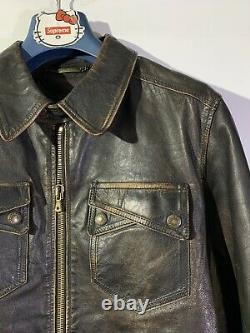 Dolce Gabbana Kangaroo Leather jacket distressed size 50