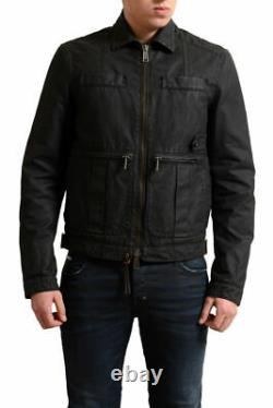 Dsquared2 Men's Dark Brown Full Zip Distressed Look Basic Jacket US S M XL