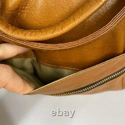 Frye Leather Large Overnight Bag Duffle Travel Tote Distressed Brown Bag