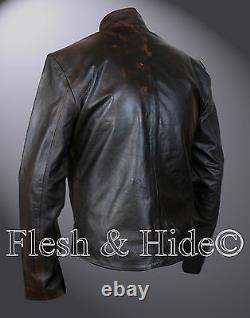 Genuine Distressed Leather Da Vinci's Demons Tom Riley Jacket