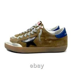 Golden Goose Superstar Distressed Suede And Leather Brown Sneakers Size 42