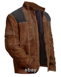 Han Solo A Star Wars Character Distressed Brown Suede Leather Jackets