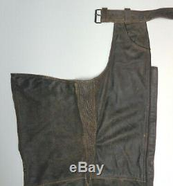Harley Davidson Billings Distressed Brown Leather Chaps M Medium More Listed 58