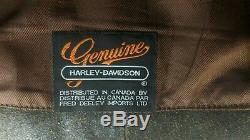 Harley Davidson Billings Leather Jacket Distressed Brown Men's Large