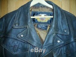 Harley Davidson Billings XL Brown Distressed Leather Jacket