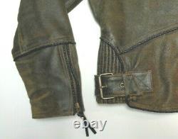 Harley Davidson Distressed Brown Leather Billings Jacket Large More Listed 132