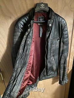 Harley Davidson Distressed Lambskin Leather Jacket 97131-16VM Size Medium