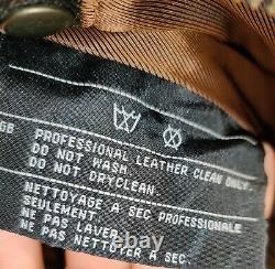 Harley Davidson Leather Jacket Moto Medium Billings Rumble Brown Distressed