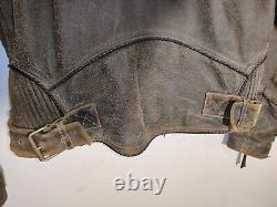 Harley Davidson Leather Jacket Small Billings Rumble Brown Distressed