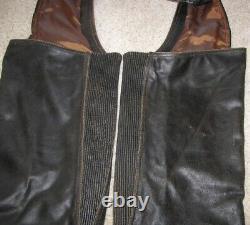 Harley Davidson MENS XL Distressed Brown BILLINGS Leather Chaps 98180-95VM