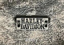 Harley Davidson Mens Brown Distressed Leather 1 Skull Moto Riding Biker Jacket L