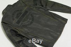 Harley Davidson ROADWAY Distress Brown Leather Jacket