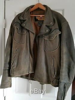 Harley Davidson XL Billings Brown Distressed Jacket