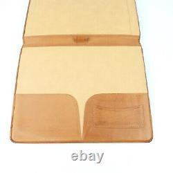 Hartmann Vintage Belting Leather Executive Folder Binder Distressed Folio